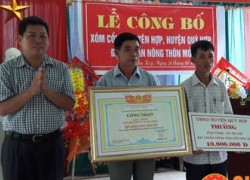 Xóm đầu tiên của xã Yên Hợp đạt chuẩn nông thôn mới.